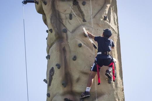 Image of person climbing on Outdoor Climbing Tower