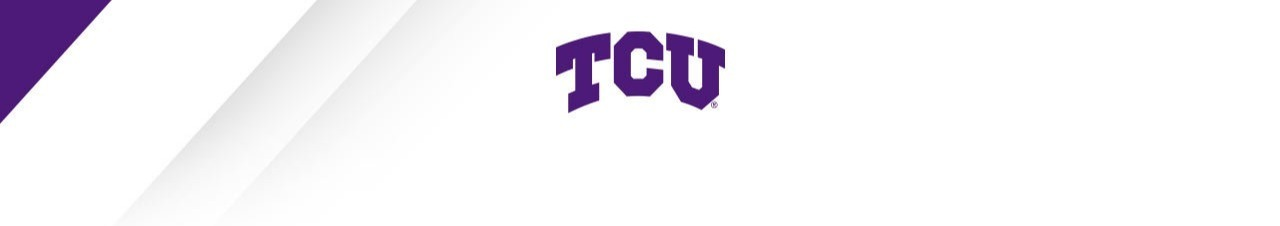 Email header with arched TCU logo
