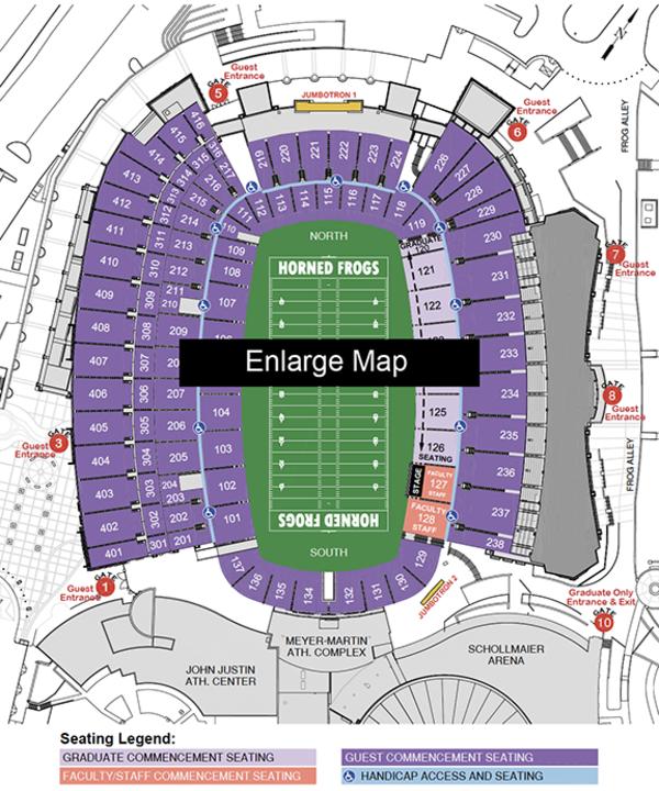 map of Amon G. Carter Stadium