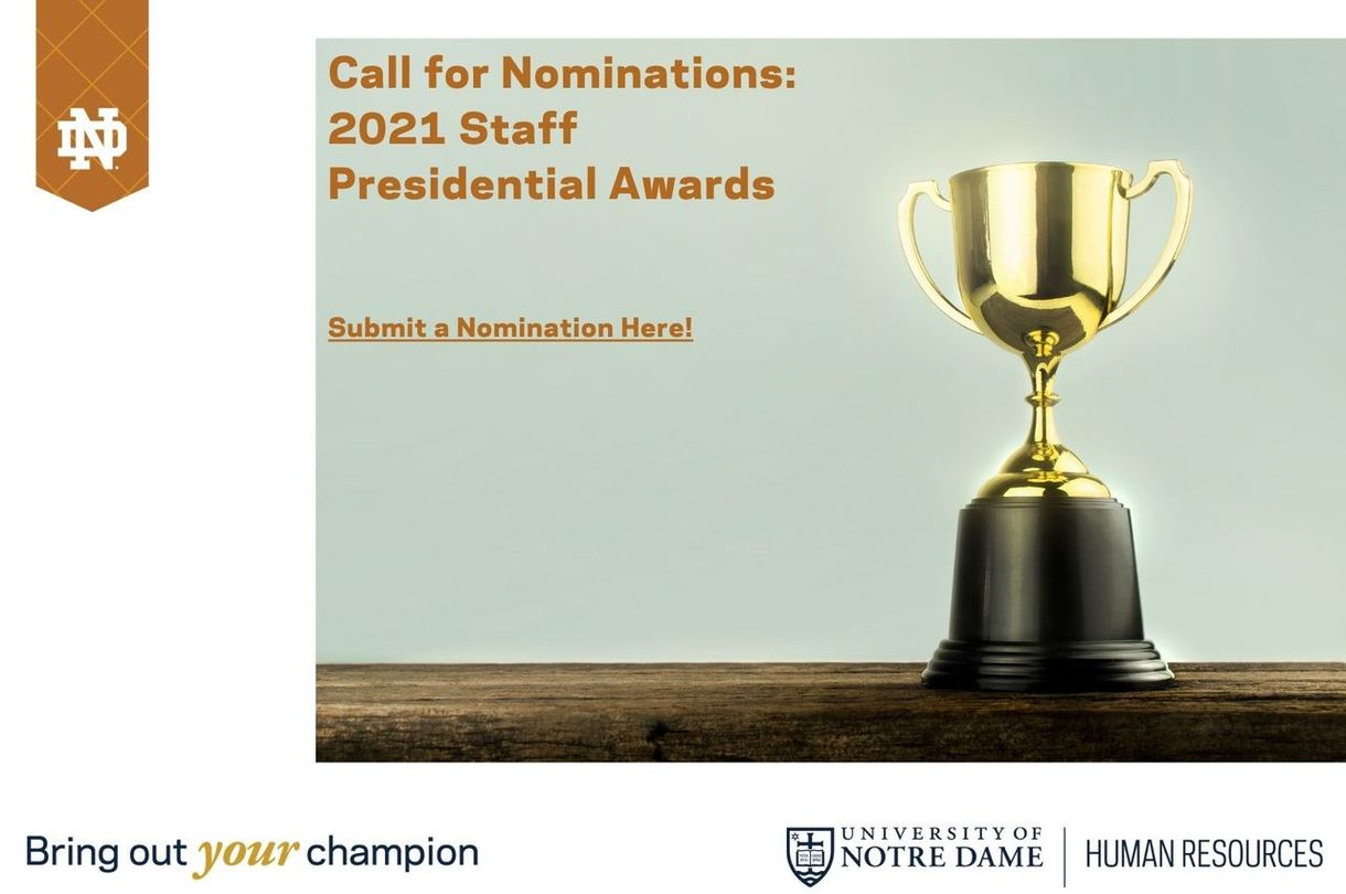 Call for Nomination 2021 Staff Presidential Awards - Submit Awards Here!