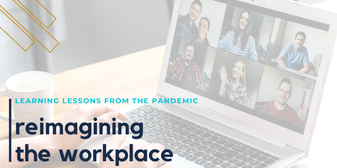 Advertisement for an employee survey for reimagining the workplace