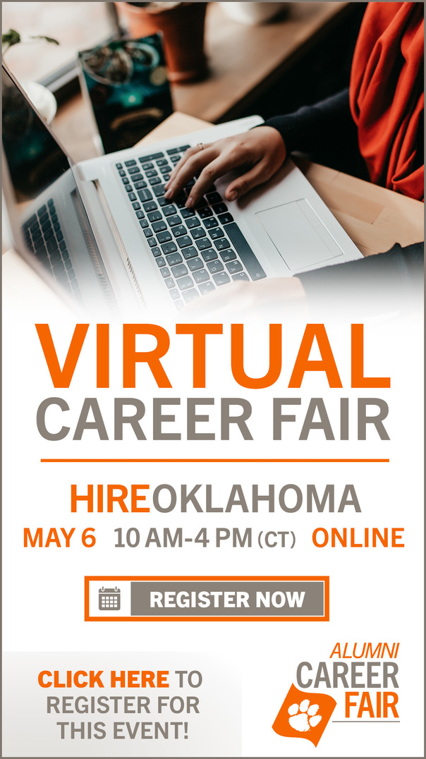 Virtual Career Fair HireOklahoma May 6 10 am - 4 pm (CT) Online Register Now Click Here to register for this event. Alumni Career Fair.