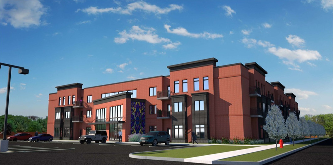 Rendering of the proposed Mt. Olive Senior Manor Apartments