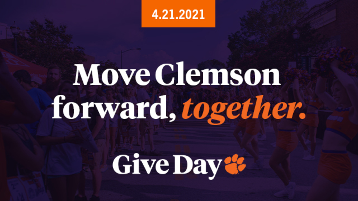 4.21.21 Move Clemson forward, together. GiveDay