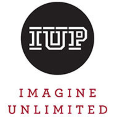 IUP logo in a black circle with