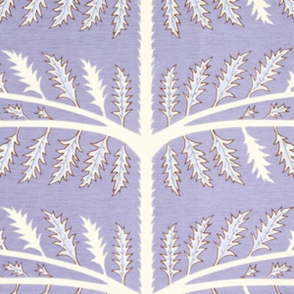 Schumacher Thistle fabric swatch in lavendar