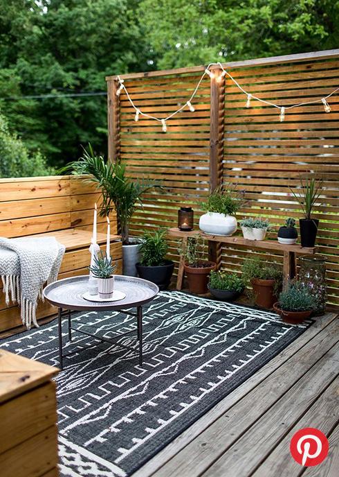 A boho patio space