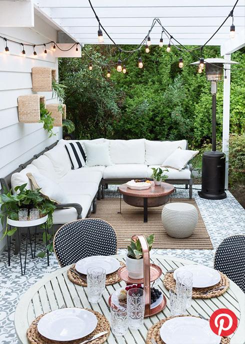 A white patio space