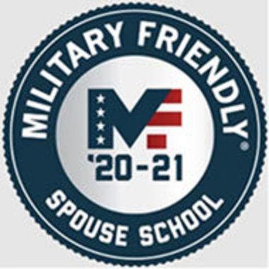 Military Friendly '20-'21 Spouse School badge