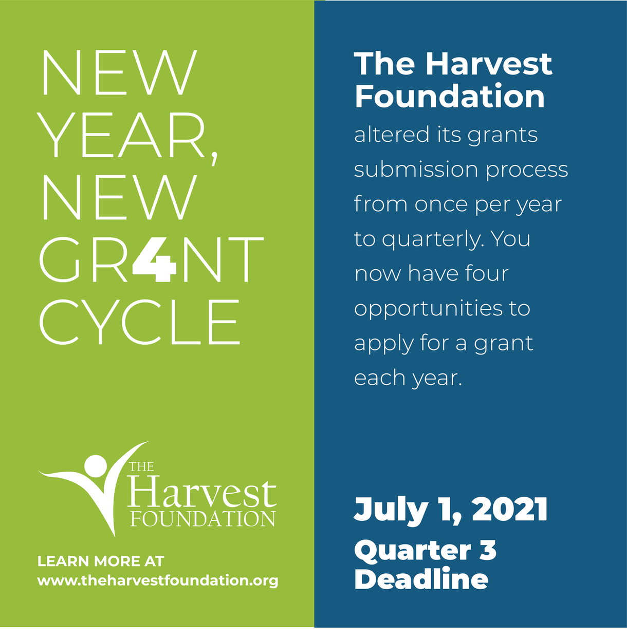 The Harvest Foundation 2nd Quarter Grant Cycle