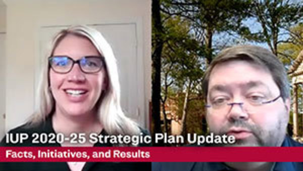 video promotional image featuring video stills of Paula Stossel and Scott Moore with the video title,