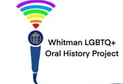Logo of Whitman's LGBTQ plus oral history project