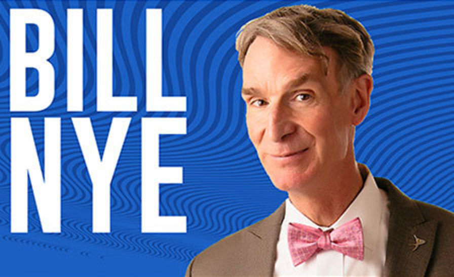 graphic featuring a Bill Nye portrait and his name