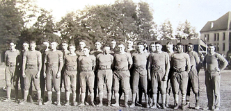Vintage photo of Whitman's football team