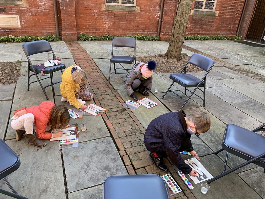 Outdoor children's formation