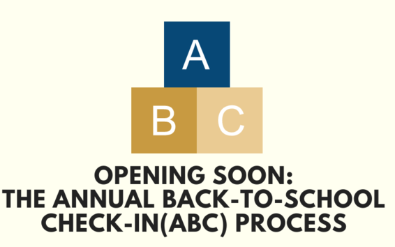 Annual Back to School Check-in