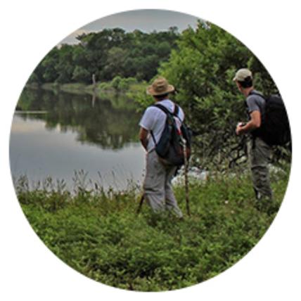 Hiking trail on Trinity Audubon Center