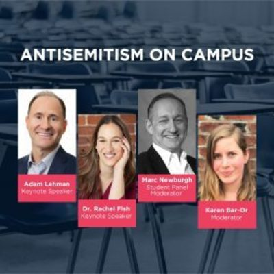 Anti-Semitism on Campus with headshots of speakers