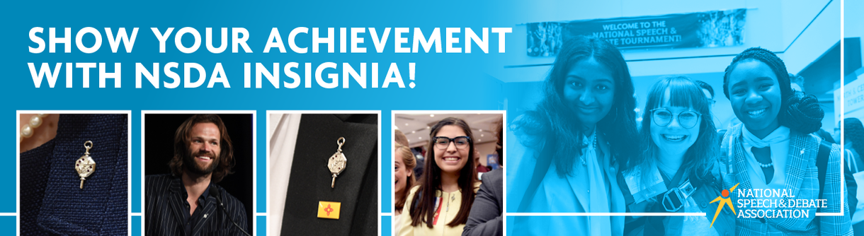 Show your achivement with NSDA Insignia