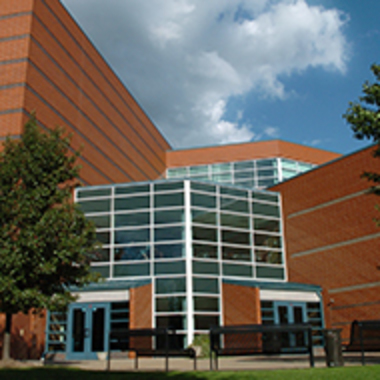 The brick building where the Eberly College of Business and Information Technology is housed on campus