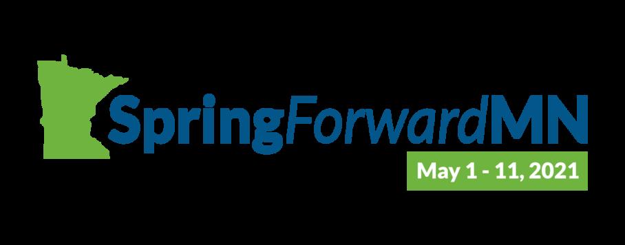 SpringForwardMN logo. May 1-11, 2021