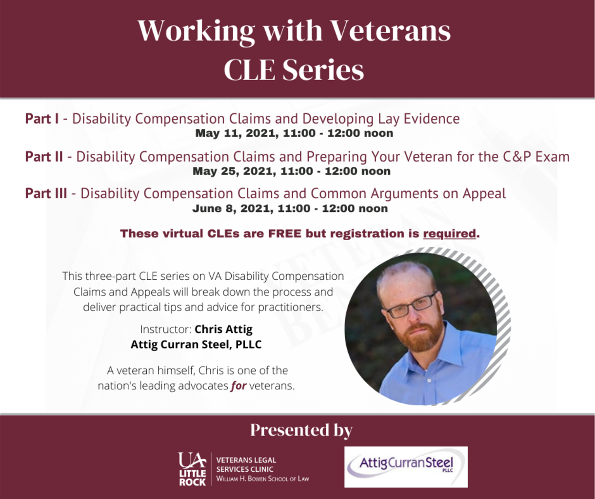 Working with Veterans CLE series