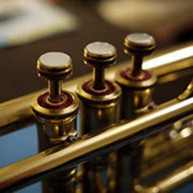 Close-up of trumpet keys