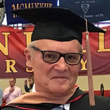 Kevin Lhota after his MBA graduation at Seton Hill
