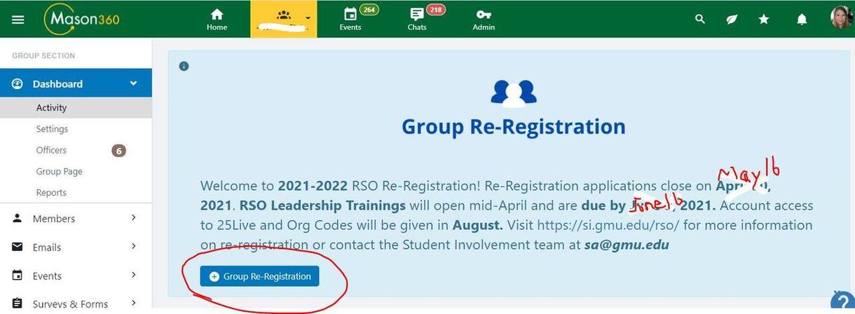 Re-register