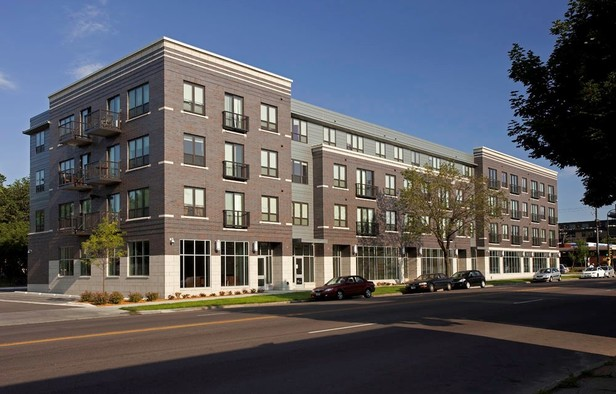 Picture of multifamily building that Minnesota Housing helped refinance
