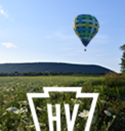 A hot air balloon over Happy Valley