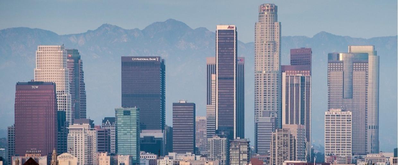 California city skyline