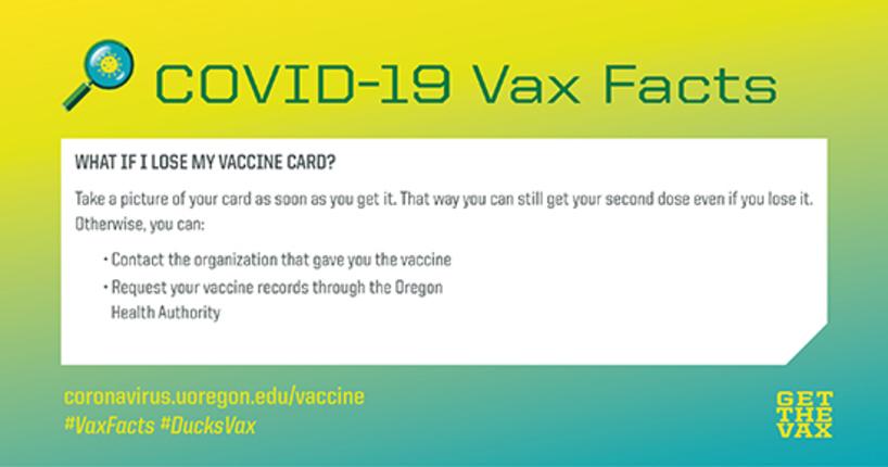 vaccine lost card
