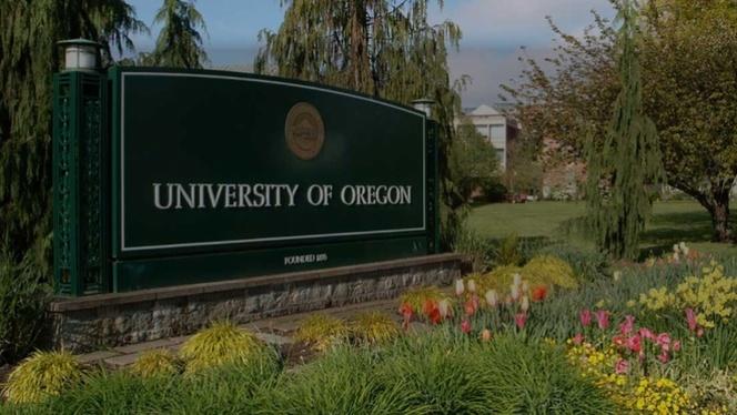 University of Oregon sign