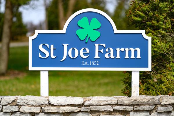 Photo of St. Joe Farm sign