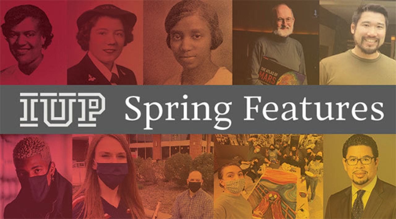 a collection of nine images from spring 2021 feature stories