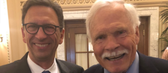 Frank Sesno and Ted Turner