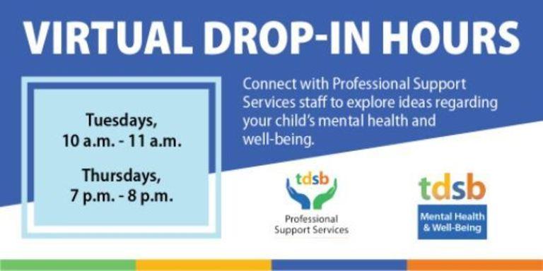 Virtual Drop-In Hours - Mental Health & Well Being