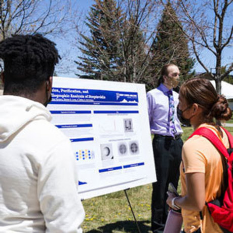 Students presenting senior research