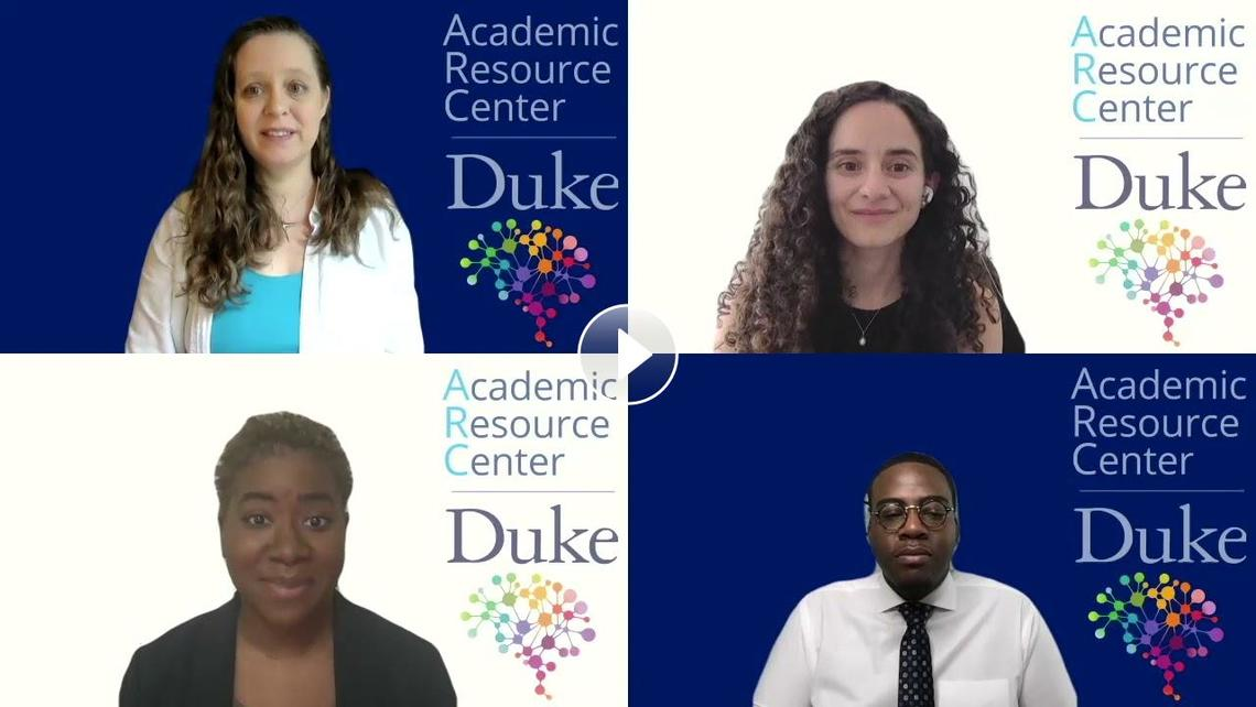 """Youtube video for the """"Get to Know Duke"""" series featuring the Academic Resource Center"""