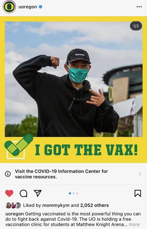 I got the vax instagram