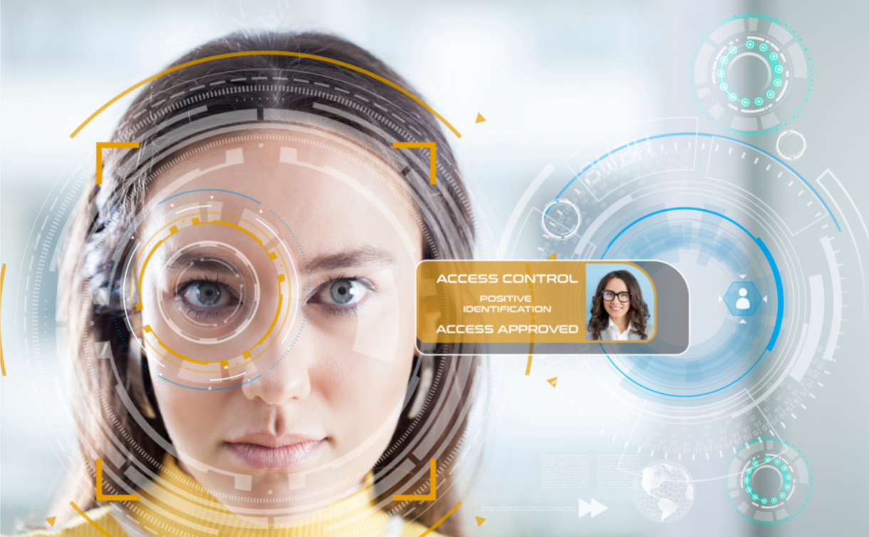 Photo illustrating facial recognition