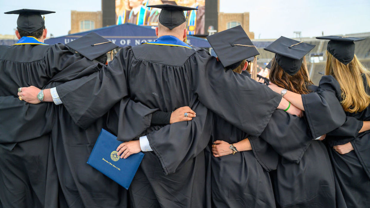 Class of 2021 graduates at Commencement 2021