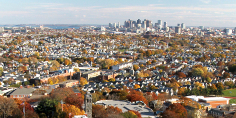 View of Boston from Medford/Somerville campus