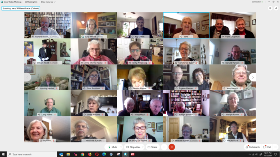 ILR participants on a Zoom call