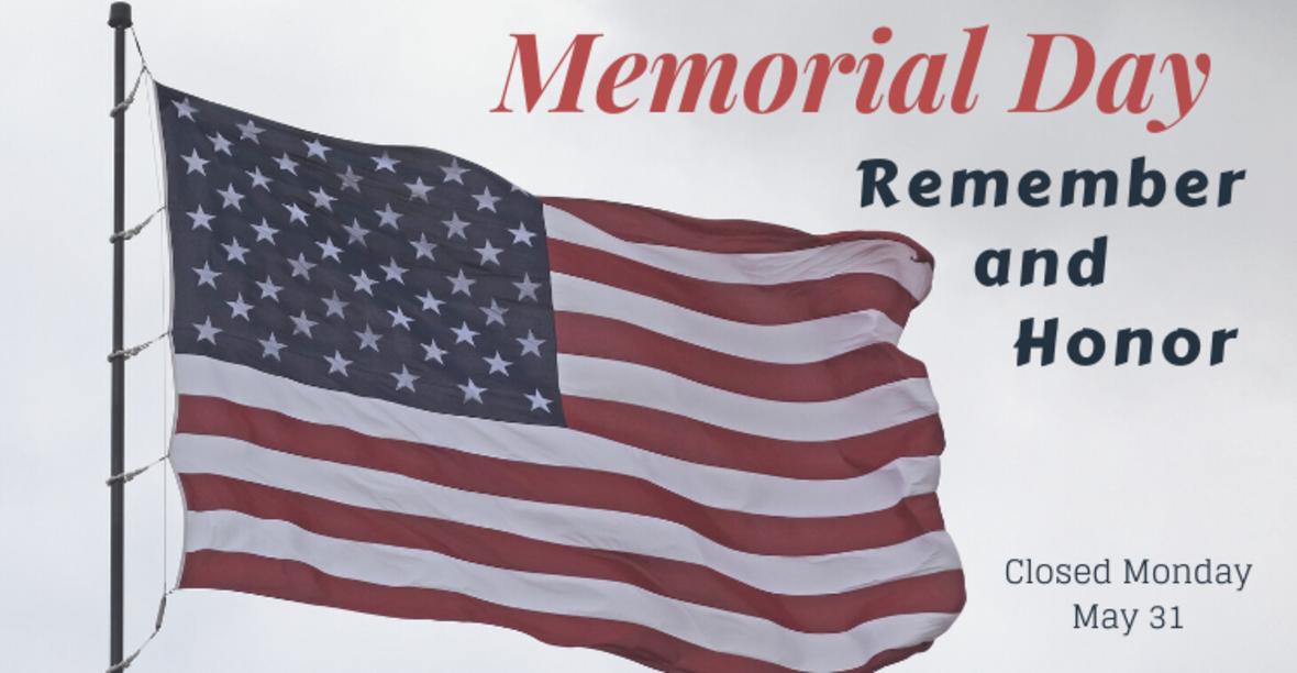 Memorial Day, May 31, 2021