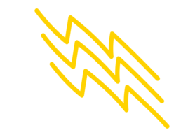 graphic of a hand drawn yellow lightning bolt