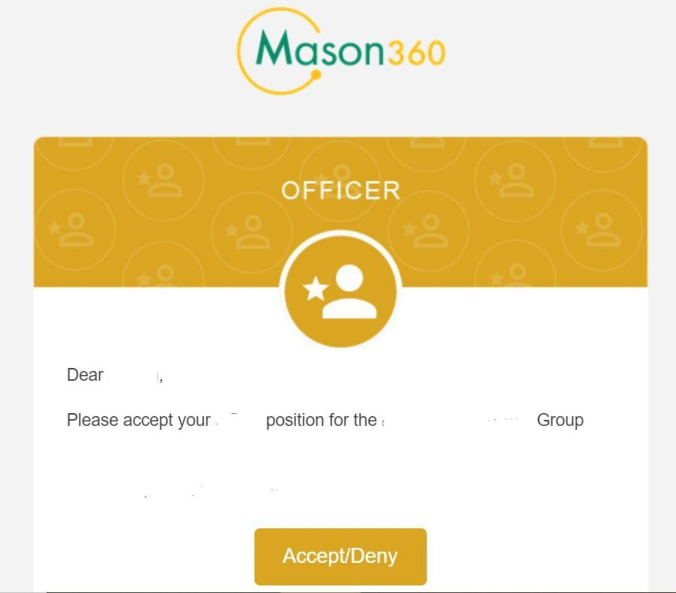 Sample Officer Email
