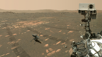 Photo of rover on Mars