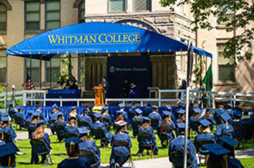 Whitman commencement stage